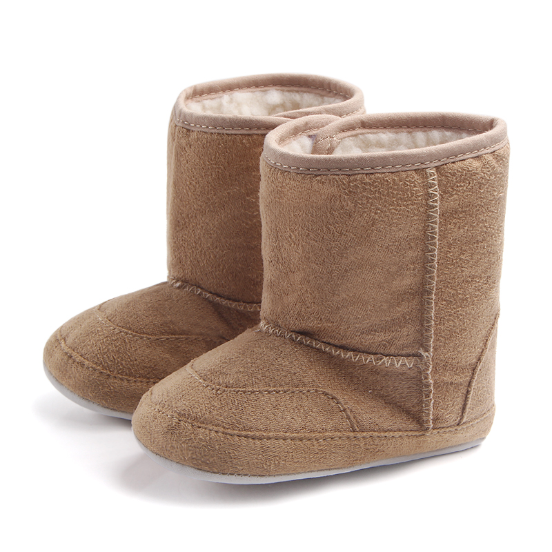 Baby / Toddler Solid Furry Warm Snow Boots