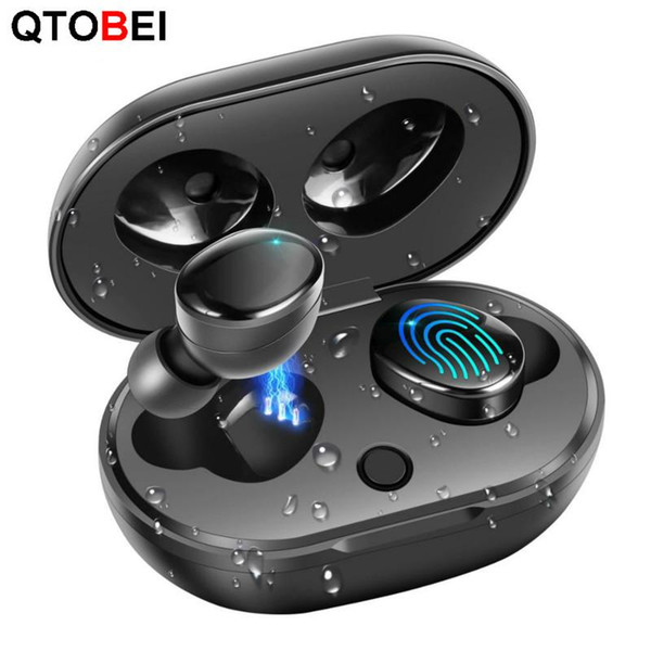 TWS 5.0 Wireless Bluetooth Earphone IPX7 Waterproof True Wireless Headphones Touch Control Earbuds with Charging Case