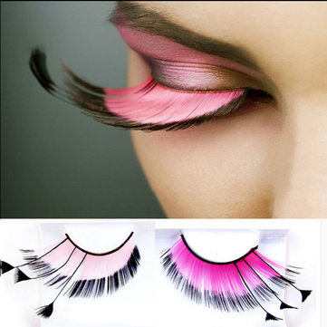 Halloween Long False Feather Eyelashes Makeup Eye Lashes Party Extension Cosmetics