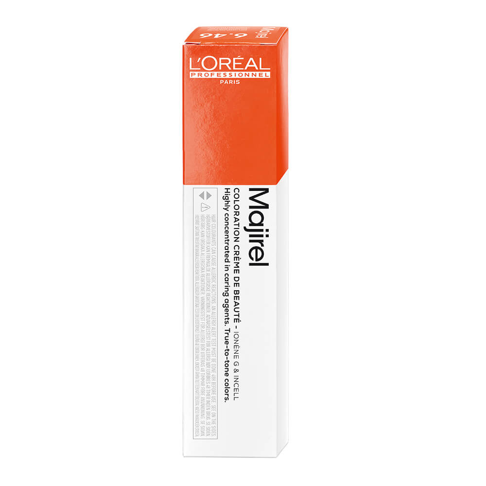 L'Oréal Professionnel Majirel Permanent Hair Colour - 6.46 Dark Copper Red Blonde 50ml