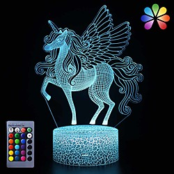Unicorn Night Light for KidsDimmable LED Nightlight Bedside Lamp16 Colors7 Colors ChangingTouchamp;Remote ControlBest Unicorn Toys Birthday Christmas Gifts for Girls Boys (Unicorn)