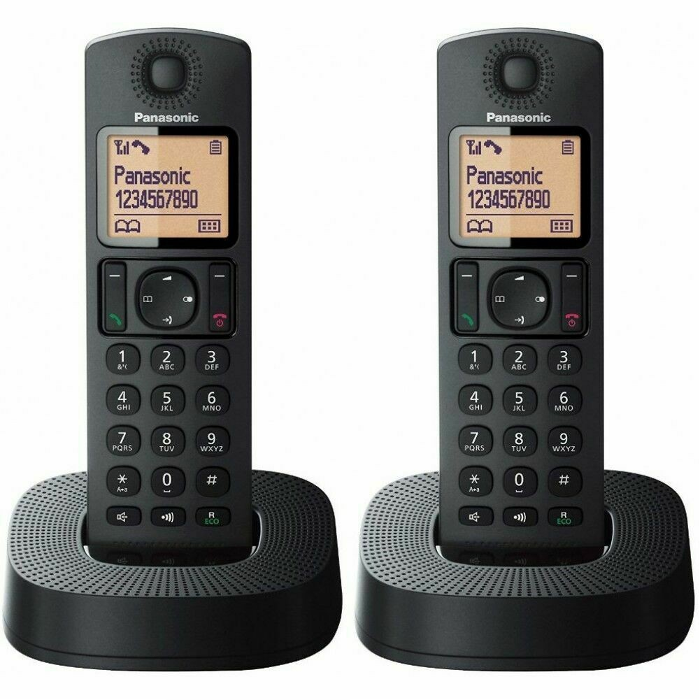 Panasonic Digital Cordless Phones - Black (KX-TGC312EB) - 2 Pack