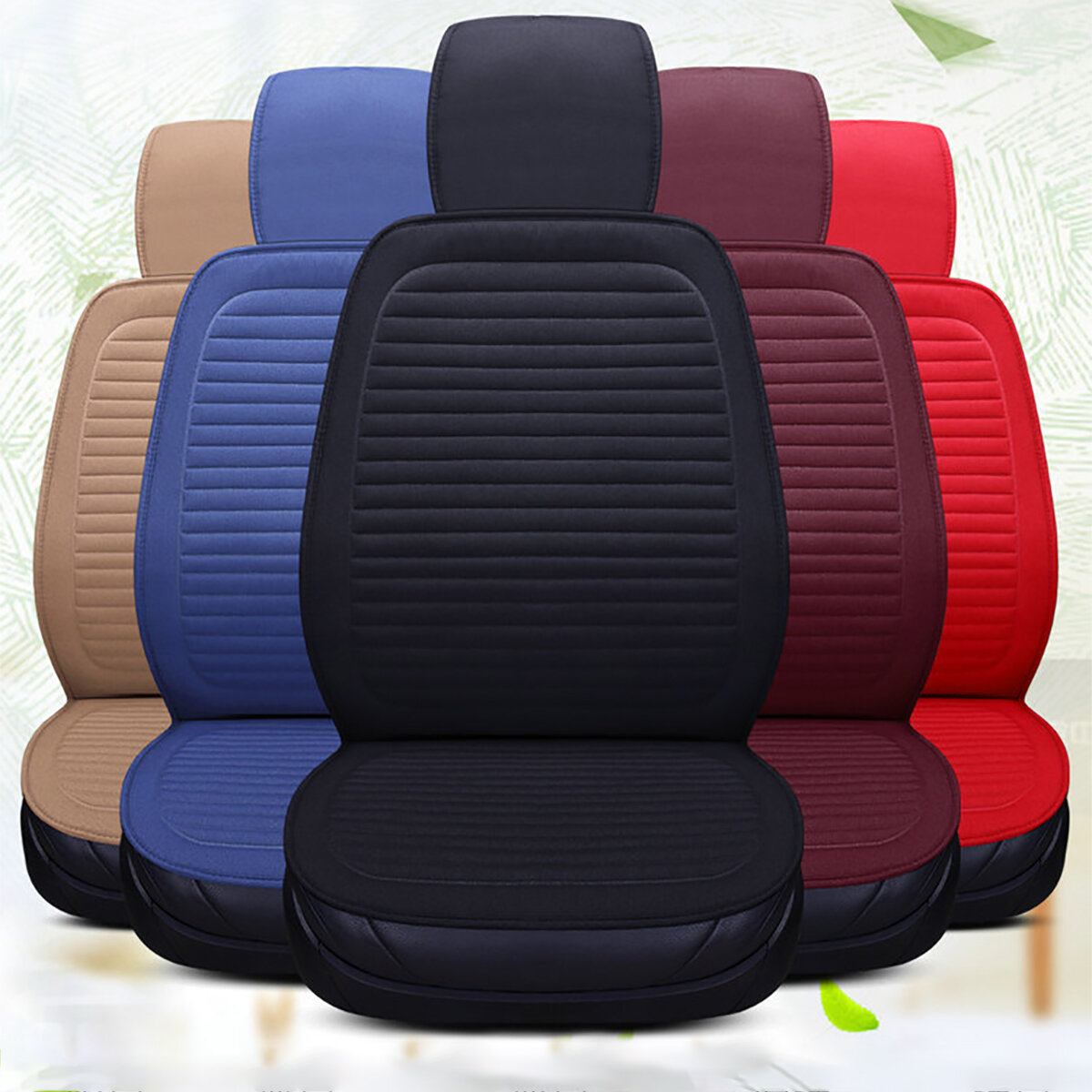 Universal Full Car Seat Cover Auto LinenBreathable Cushion Pad Mat Protector