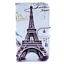 Eiffel Tower Pattern PU Leather Full Body Case with Stand and Card Slot and Money Holder for Samsung Galaxy Note 3