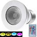 E27 3W 180LM 16 Color RGB LED  Spotlight with  Remote Control (85-265V)
