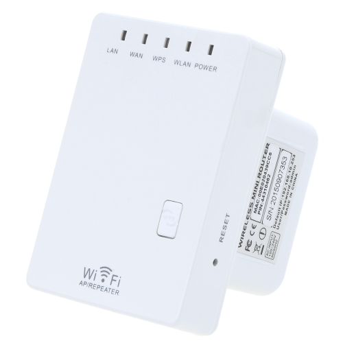 300Mbps Mini Wireless-N 802.11/3u Wifi Router Singal Extender Booster