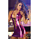 Robe Combinaison Morphsuit Combinaison-pantalon Club Waitress Adulte Latex Costumes de Cosplay Robes Femme Couleur Pleine Halloween Carnaval / Costume de peau