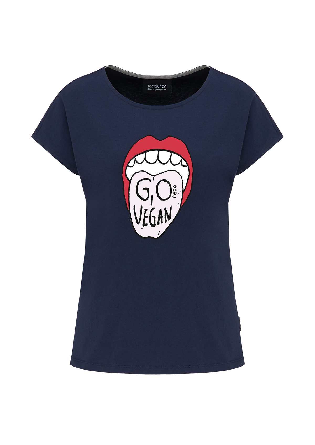 Casual T-Shirt #GO VEGAN
