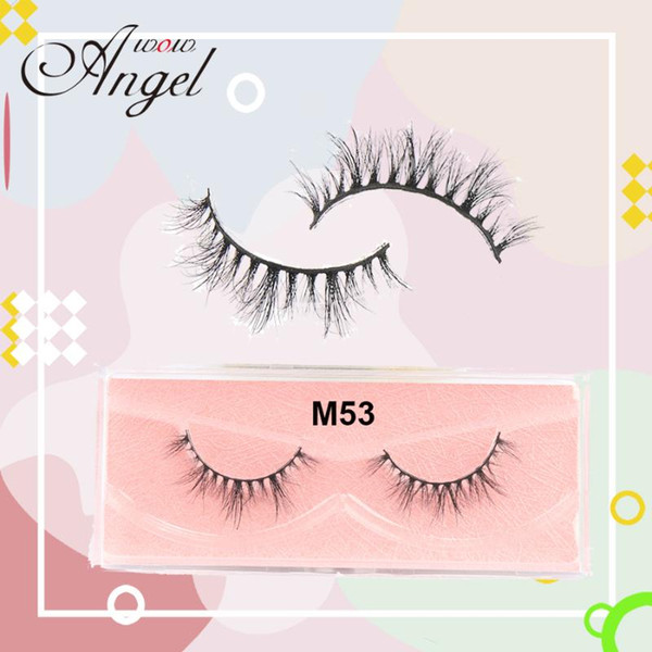 wowangel mink lashes natural fluffy volume strands cruelty 3d mink eyelashes cruelty full strip lashes makeup m53