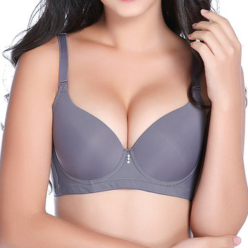 Women Sexy Adjustable Ice Silk Bra Breathable Gather Thin Bras
