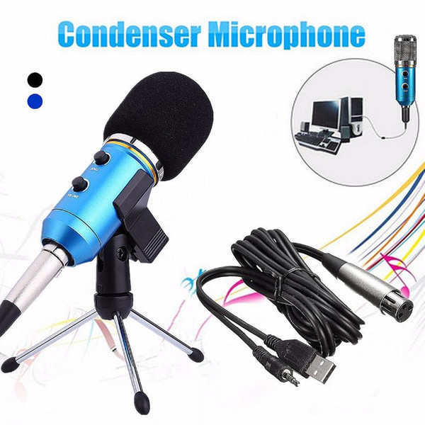 Usb Condenser Microphone Kit Recording Microphone With Tripod Stand for PC Studio for Podcast Karaoke Laptop Skype