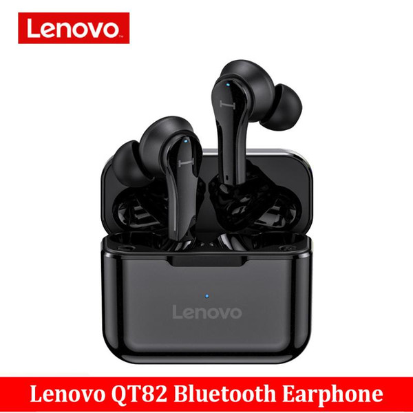 Original Lenovo QT82 Wireless Bluetooth Earphones Touch Control Stereo HD Voice 400mAh Headset Vs Lenovo LP1S Earphones