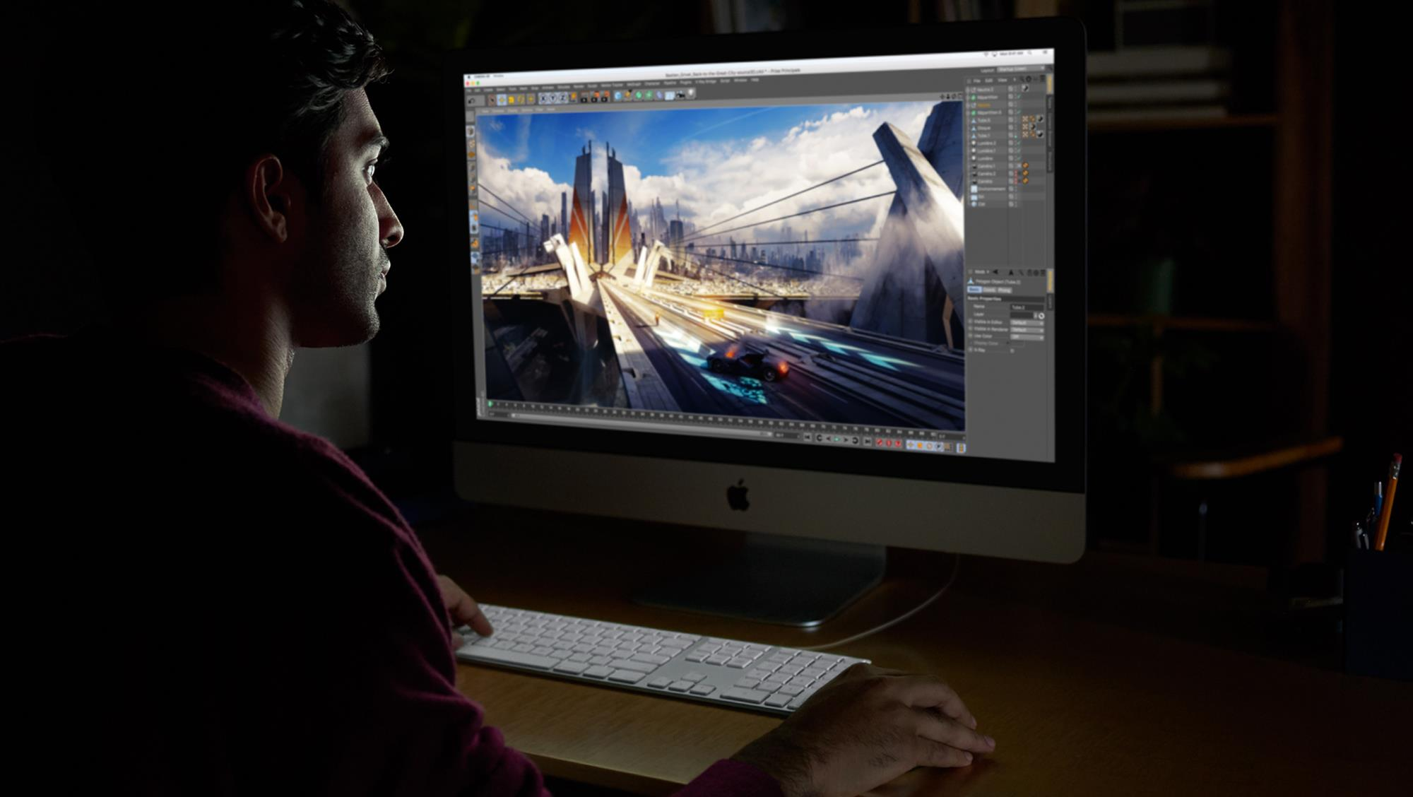Apple iMac Pro with Retina 5K display - All-in-One (Komplettlösung) - 1 x Xeon W 3 GHz - RAM 64GB - SSD 4TB - Radeon Pro Vega 64 - GigE, 10 GigE - WLAN: 802,11a/b/g/n/ac, Bluetooth 4,2 - OS X 10,13 Sierra - Monitor: LED 68,6 cm (27) 5120 x 2880 (5K) - Tas