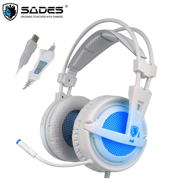 sades usb 7.1 stereo wired gaming headphones game headset over ear with mic voice control for lapcomputer gamer