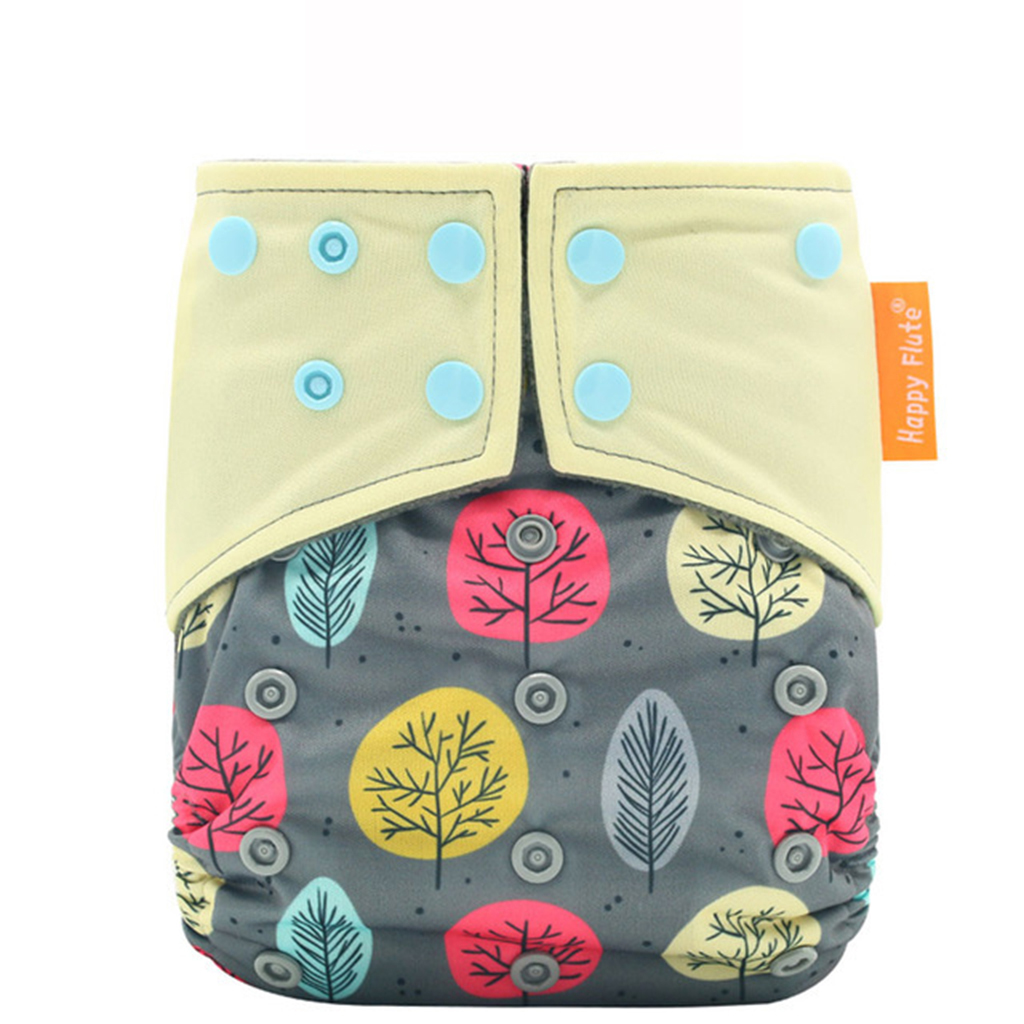Waterproof Adjustable Tree Print Cloth Diaper