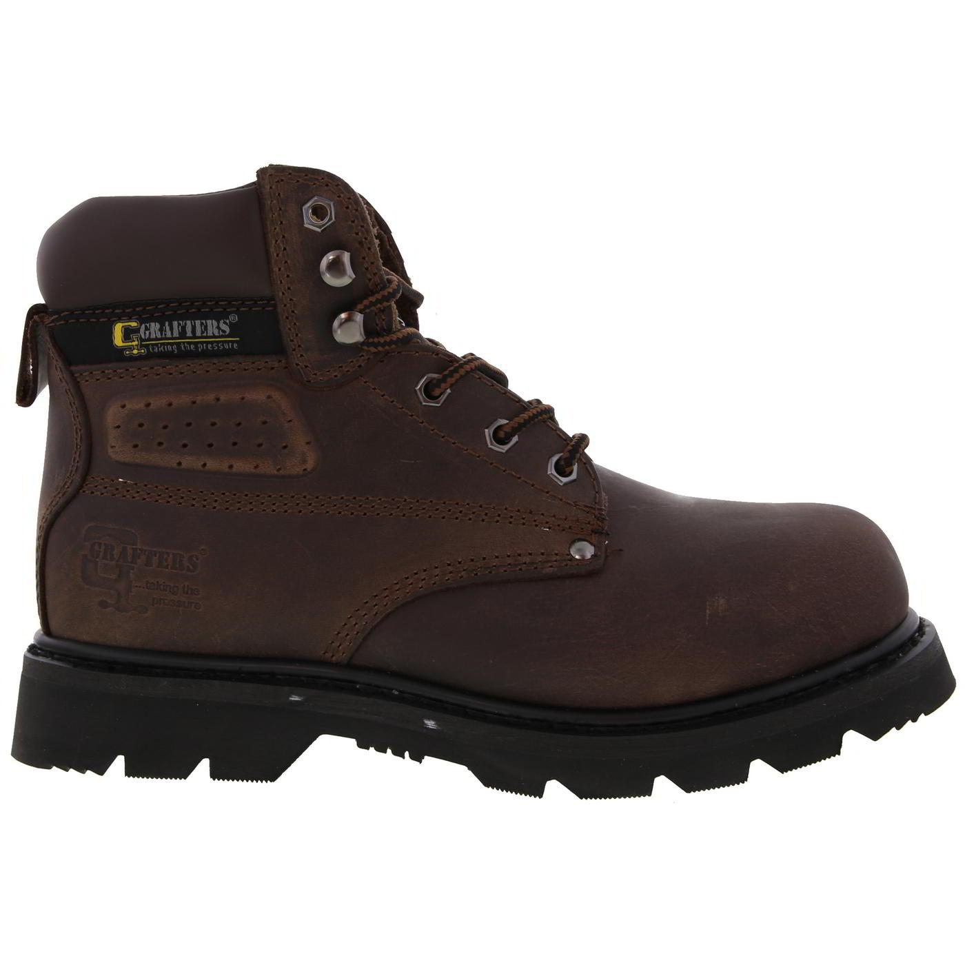 Grafters Mens Gladiator Steel Toe Cap Safety Work Boots - UK 9