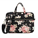 13.3 14 15.6 Shoulder Messenger Bag Briefcase Handbags Canvas Floral Print for Macbook/Surface/HP/Dell/Samsung/Sony Etc