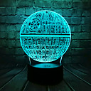 Big Movie Star Wars 3D LED Light USB Astro Cartoon Death Star Colorful Bulb Ball Atmosphere Lava Night Light Lighting Gift