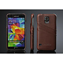 Fashion Luxury Genuine Leather Back Cover Case for Samsung Galaxy S5 I9600