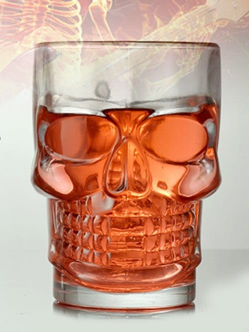 Skull 500ML Beer Drink Transparent Glass Mug
