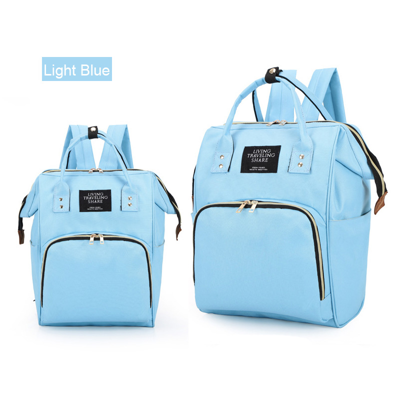 Simple Large Capacity Diaper Bag Backpack