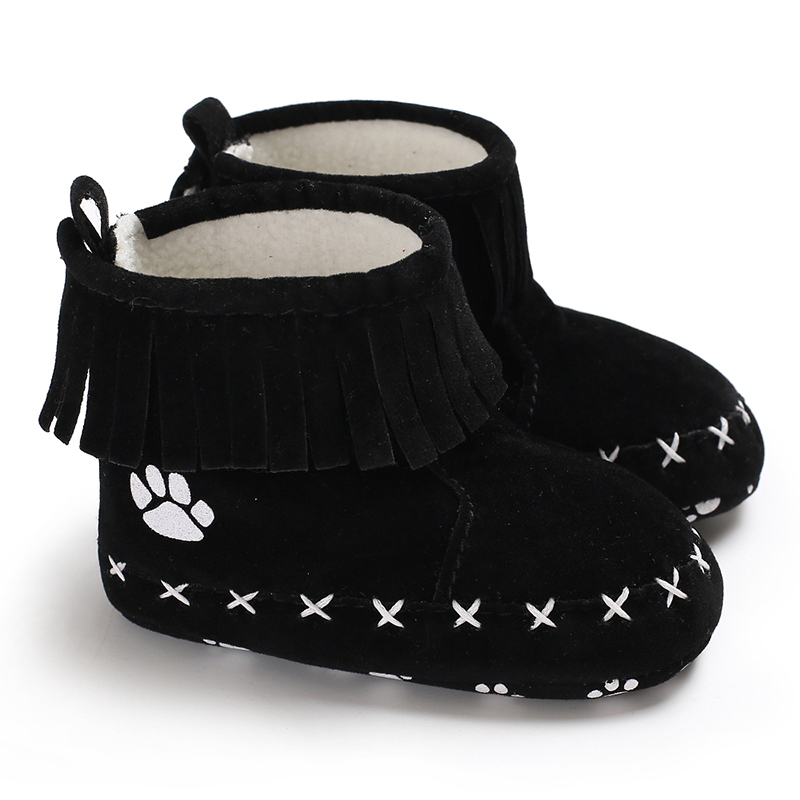 Baby / Toddler Girl Adorable Paw Print Antiskid Snow Boots