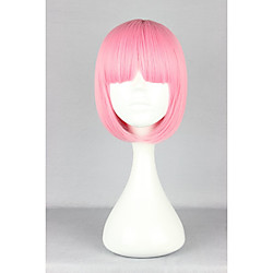 Synthetic Wig Straight Kardashian Straight Bob With Bangs Wig Pink Pink Synthetic Hair Women's Pink hairjoy Lightinthebox