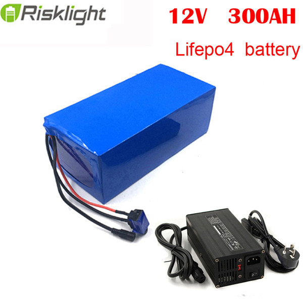 deep cycle 12v 300ah lifepo4 lithium ion battery for solar backup/rv