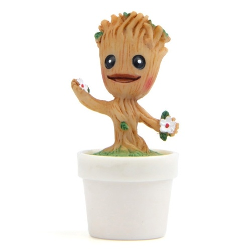 Cute Tree Man Groot Doll Guardians of the Galaxy Doll Car/Home Decoration With Pot
