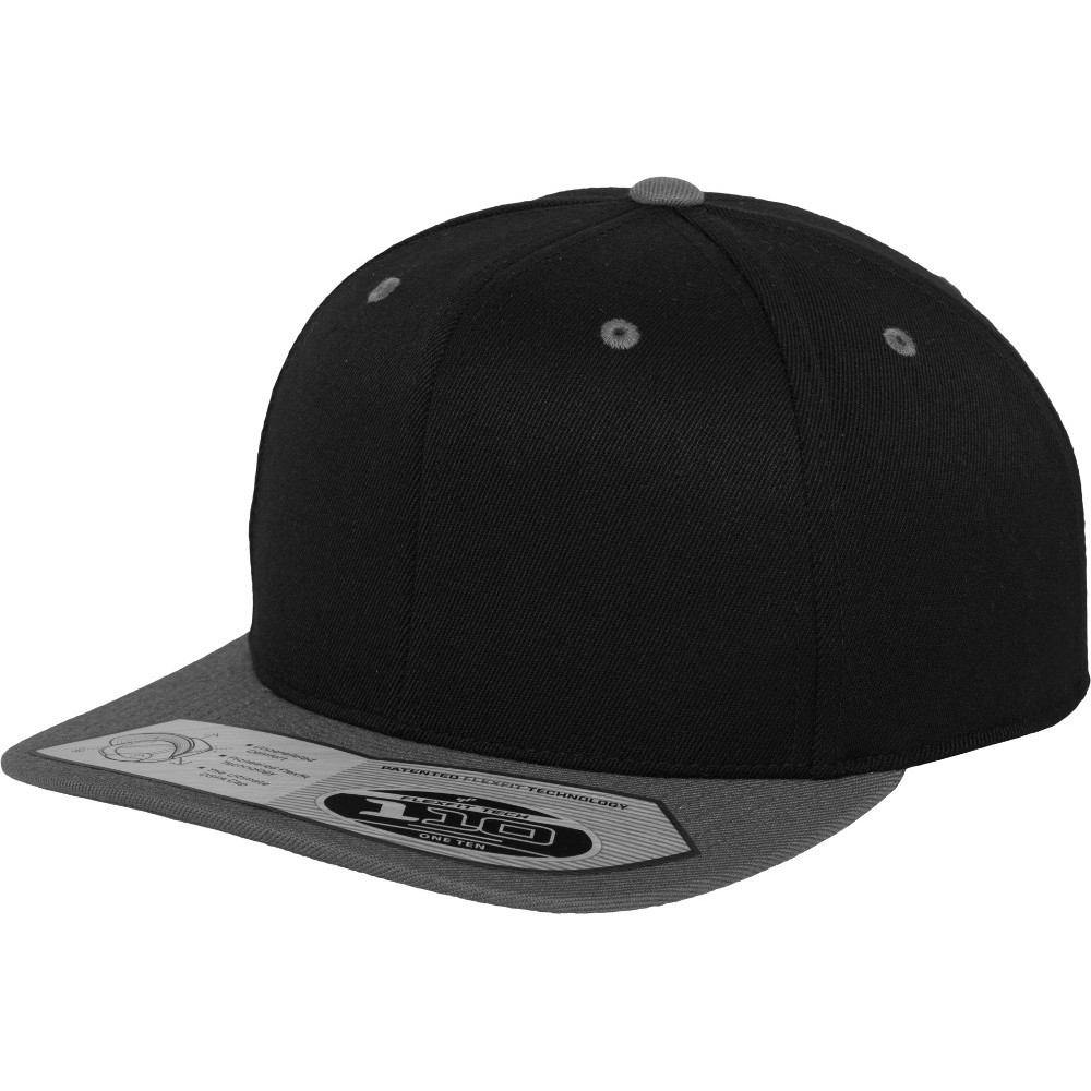 Flexfit by Yupoong Mens 110 Fitted Moisture Wicking Snapback Cap One Size