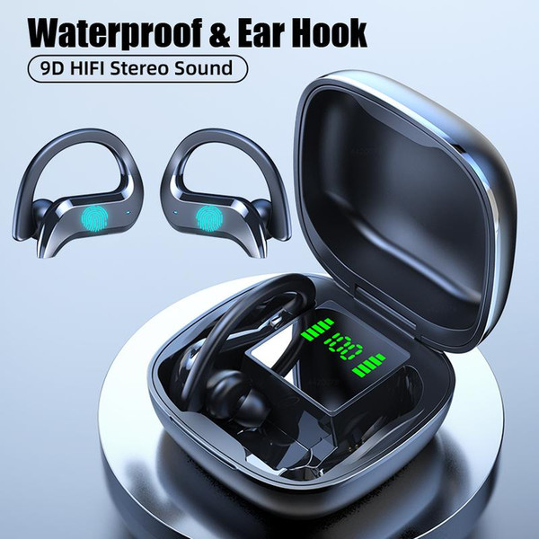 TWS Earphones Wireless Bluetooth5.0 Earphone Waterproof 9D HiFi Stereo Sport Headsets With Microphone Mini Earbuds In Stock