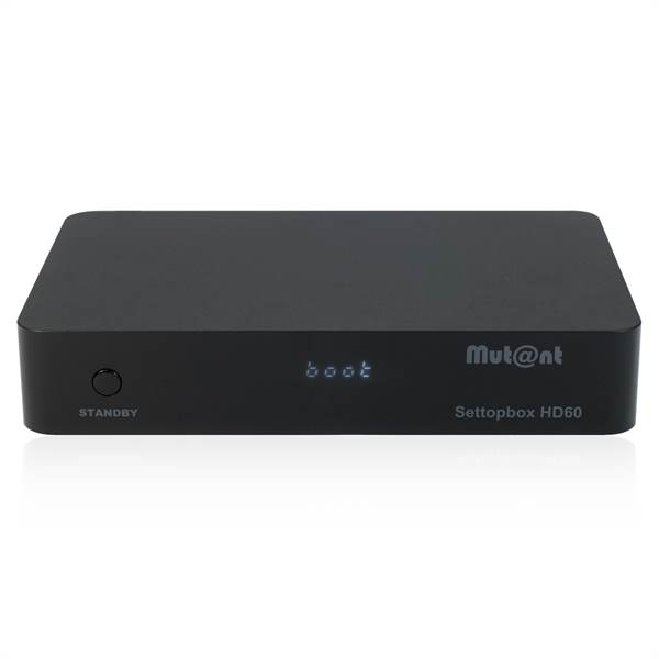 Mutant HD60 4K UHD 2160p E2 Linux + Android DVB-S2X Sat Receiver