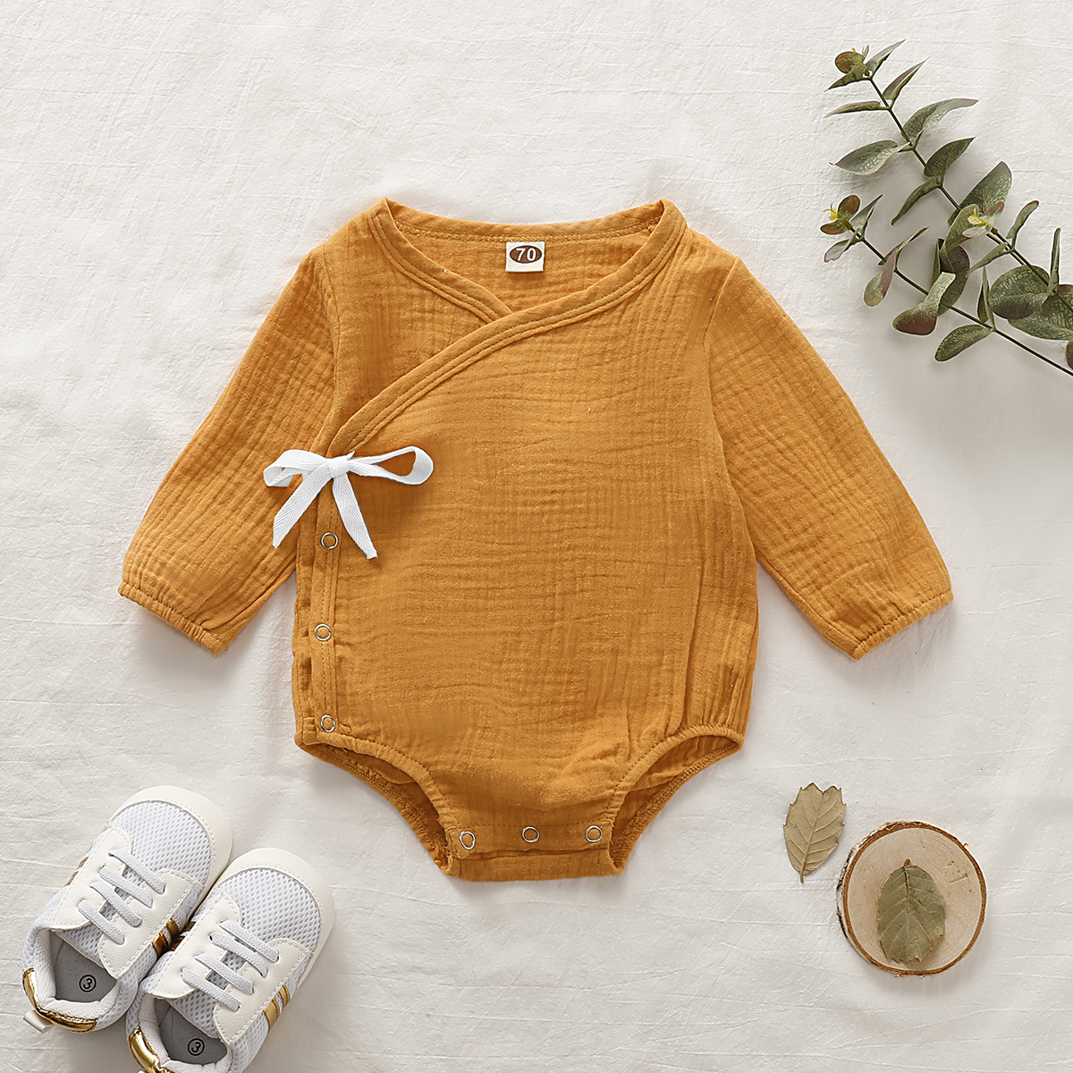 Baby V Neck Long-sleeve Romper