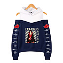 Inspired by Naruto Cosplay Akatsuki Uchiha Itachi Hoodie Fake Two-Piece Polyester / Cotton Blend Print Printing Hoodie For Women's