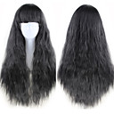 Synthetic Wig Curly Asymmetrical Wig Long Natural Black Synthetic Hair 27 inch Women's Best Quality Black
