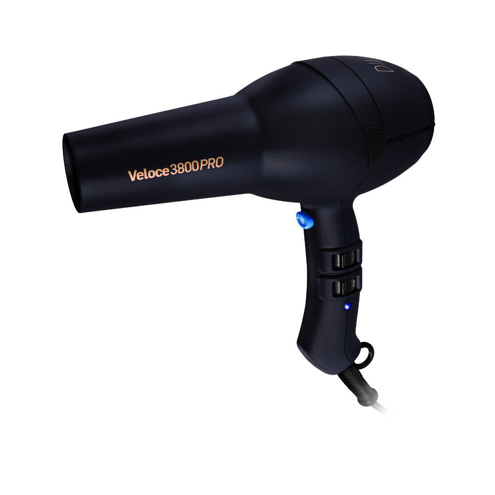 diva edit  veloce 3800 pro hair dryer black