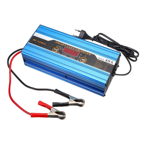 20a30a40a battery lead-acid 20ah to 200ah smart charger multifunction for car motorcycle lcd display - 40a