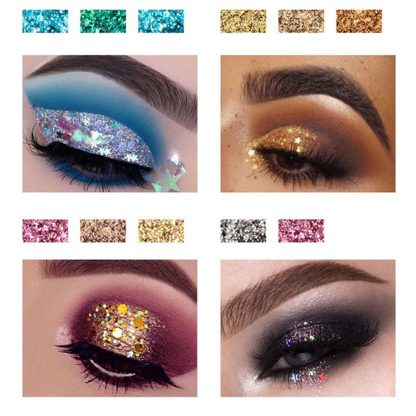 diamond sequin eyeshadow palette glitter eye shadow long lasting portable