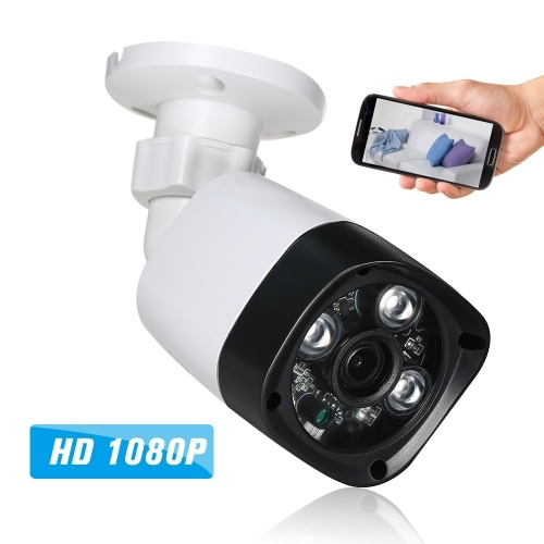 1080P HD POE 3 Array IR Lamps Night View  Phone APP Control IP Camera