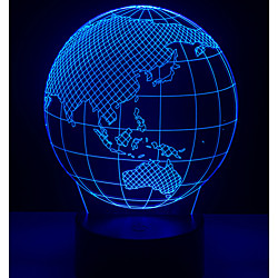 New World Telluride Globe 3D LED Light World Map 7 Color Changing Mood Light Bulb Boy Desk Decoration Device Dream Light Gift Toy