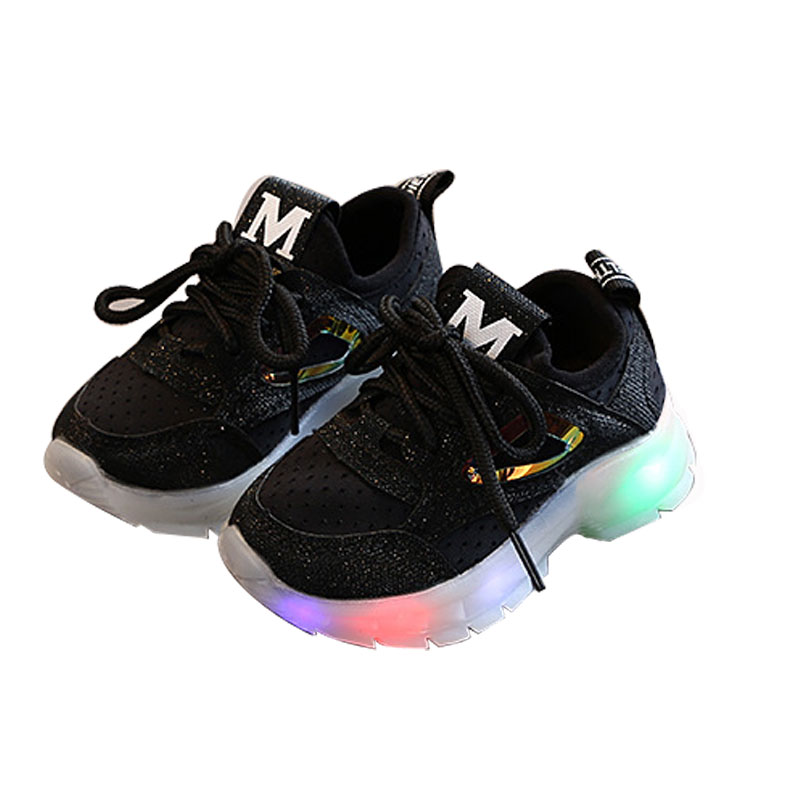Toddler / Kid Solid LED Athletic Shoes