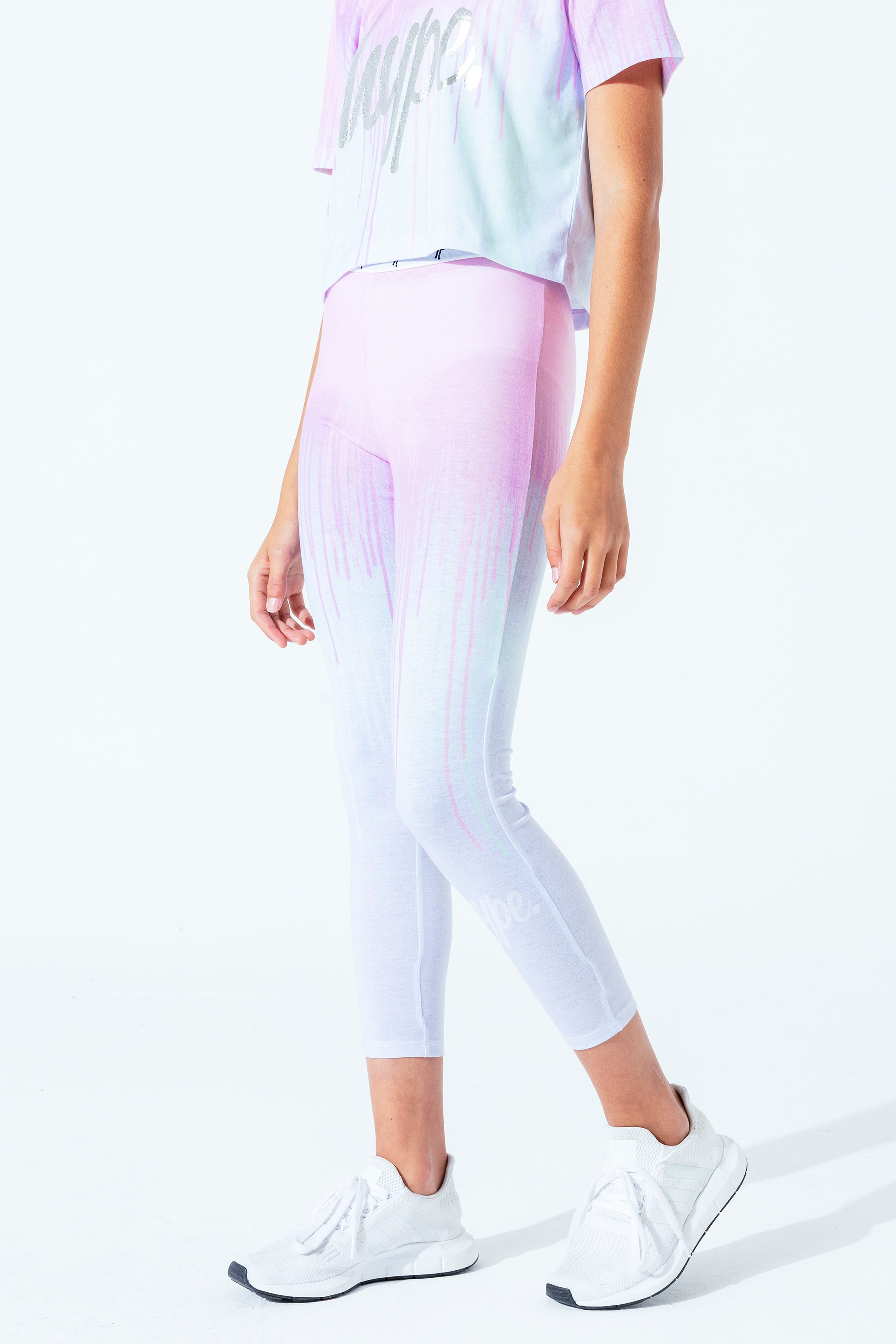 Hype Pastel Drips Kids Leggings | Size 9/10Y