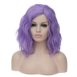 Synthetic Wig Wig Short Pink Black white Multicolored Purple Dark Green Synthetic Hair Women's Purple Lightinthebox