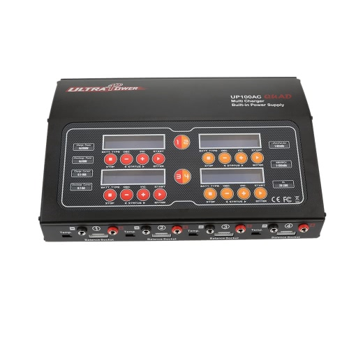 Ultra Power UP100AC QUAD 4*100W LiIo/LiPo/LiFe/NiMH/NiCD Battery Multi Balance Charger/Discharger