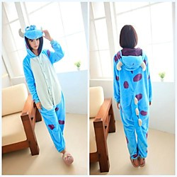 velu université de monstre bleu molleton unisexe pyjama kigurumi vêtements de nuit de dessin animé animaux costume de Halloween Lightinthebox