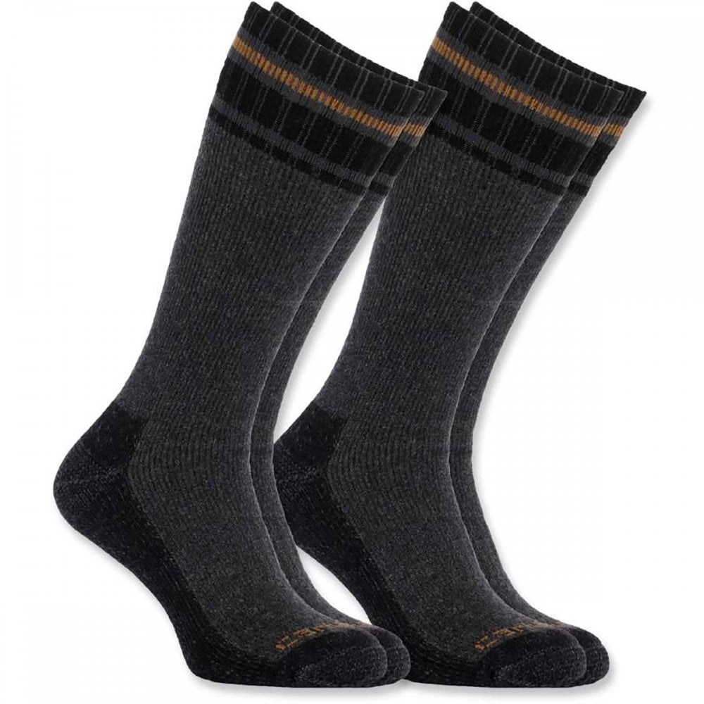 Carhartt Mens Cold Weather Thermal Wool Socks 2 Pack Large - UK 8-10.5, EU 42.5-45.5, US 9-11.5