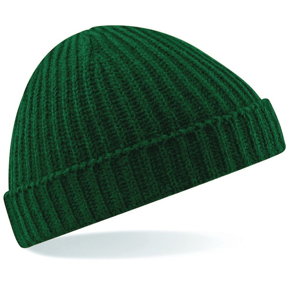 Outdoor Look Mens Trawler Rib Knit Retro Winter Beanie Hat One Size