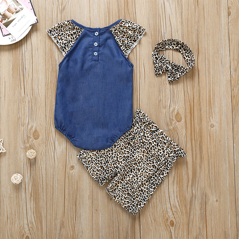 3-piece Baby / Toddler Leopard Print Bodysuit, Pants and 3D Ear Headband