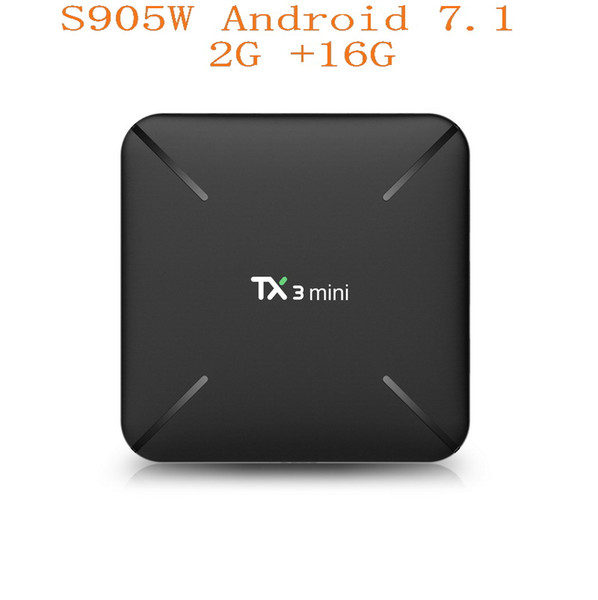 new tx3 mini android 7.1 tv box 2gb16gb amlogic s905w quad core 2.4ghz wifi google play store netflix media player smart tv box