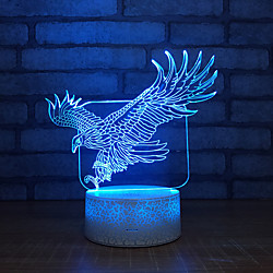 3D Nightlight Creative Birthday with USB Port USB 1pc Lightinthebox
